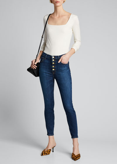 Lillie High-Rise Cropped Skinny Jeans
