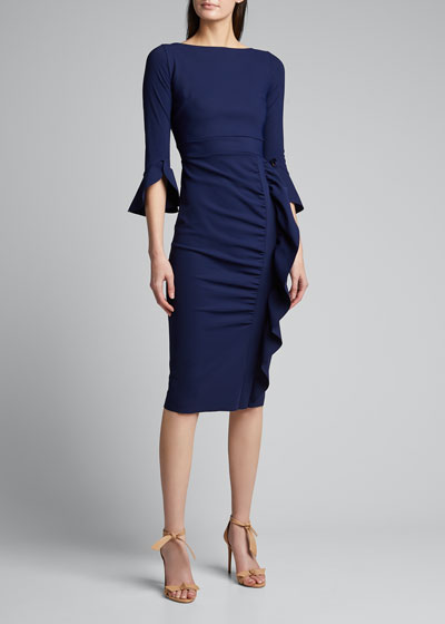 Beymali Side-Ruffle Sheath Dress