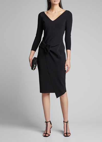 Sotiria V-Neck Jersey Sheath Dress