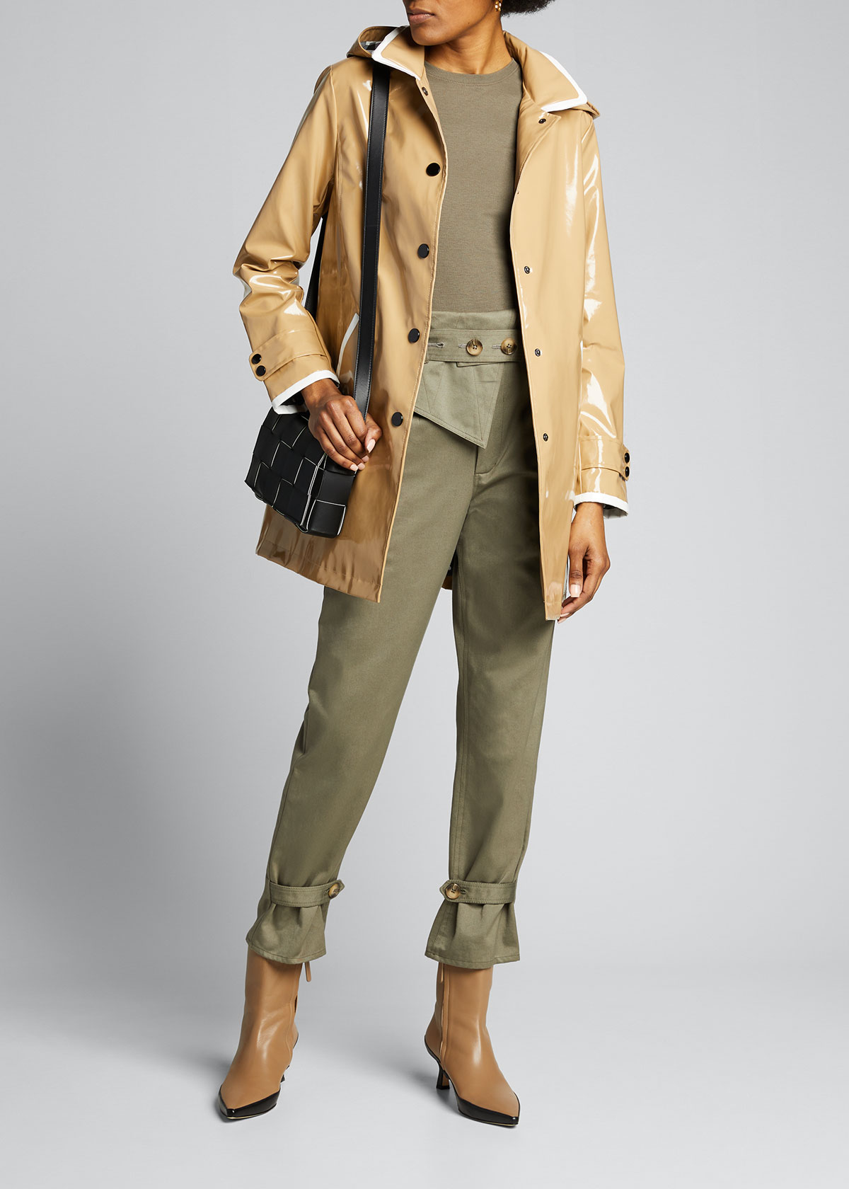 Jane Post BUTTON-UP MID-LENGTH SLICKER