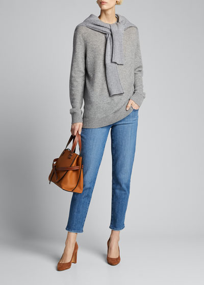Adele Mid-Rise Straight Cropped Jeans