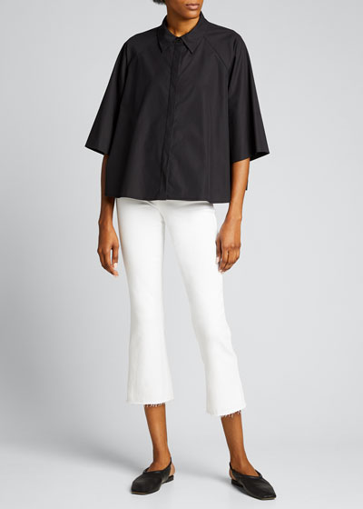 Kendra High-Rise Crop Flare Jeans