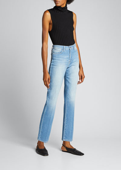 Nadia High-Rise Crop Straight Jeans