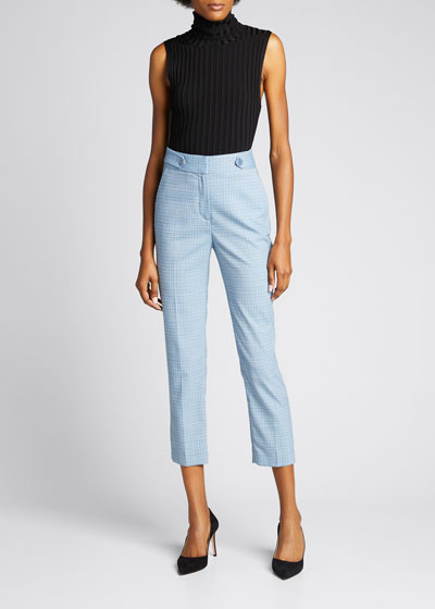 Gamila Button-Waist Ankle Pants