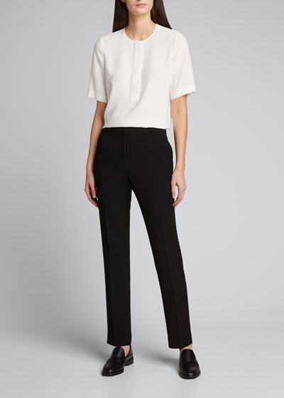 Topher Short Sleeve Crepe Blouse