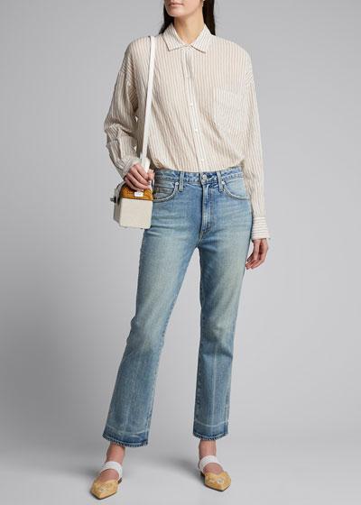 Bella Cropped Straight-Leg Jeans