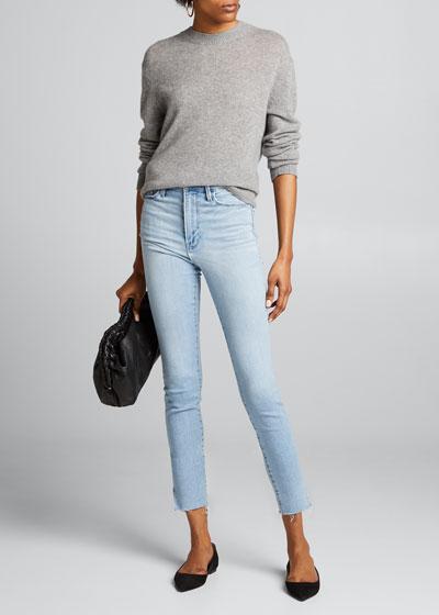 Ali High-Rise Ankle Slit Cigarette Jeans