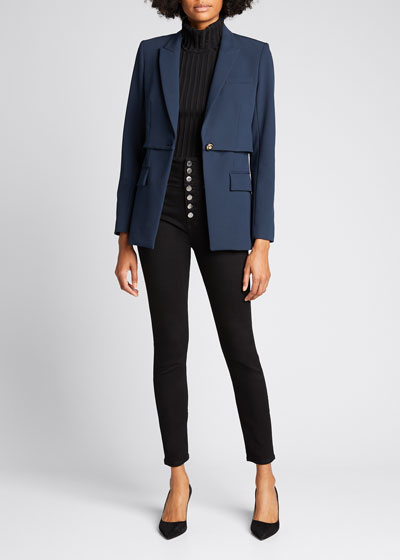 Mori Tiered Stretch Dickey Jacket