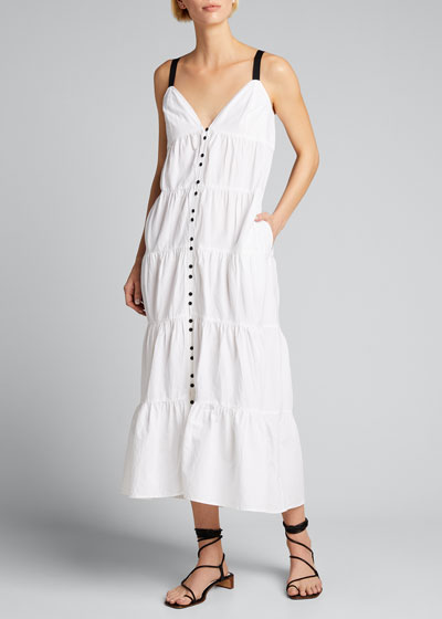 Tiered Utility Maxi Dress