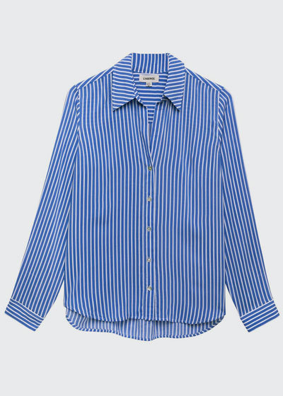 Holly Striped Long-Sleeve Blouse