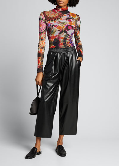 Eco Leather Culotte Pants
