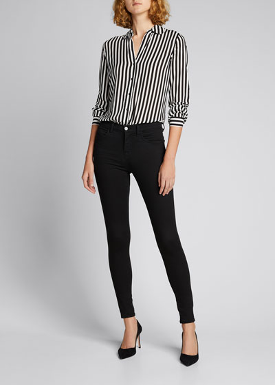 Holly Long-Sleeve Striped Blouse