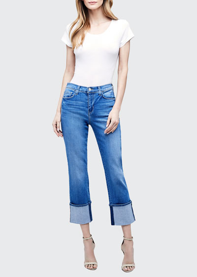 Camila Slim Cuffed Jeans