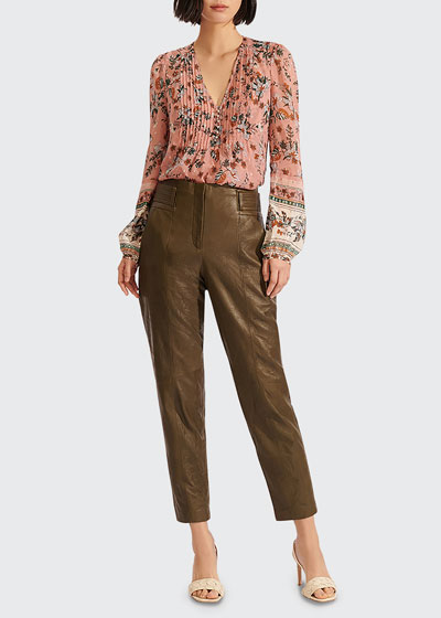 Lowell Floral Print V-Neck Blouse