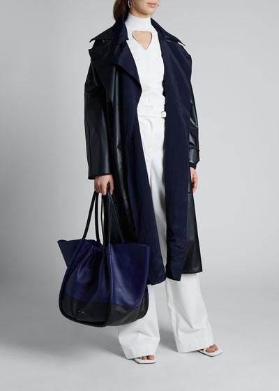 Layered Belted Rain Coat