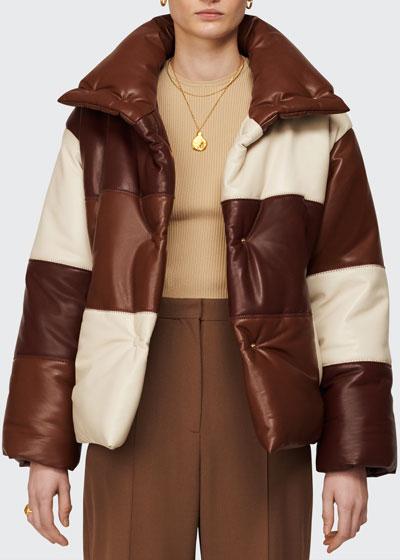 Hide Colorblock Puffer Coat