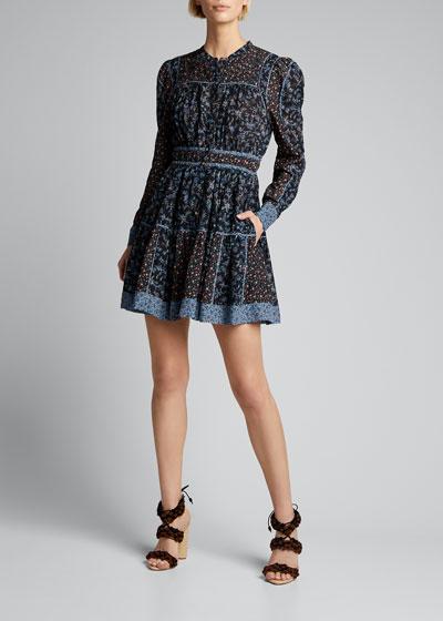 Luise Floral-Print Button-Front Dress