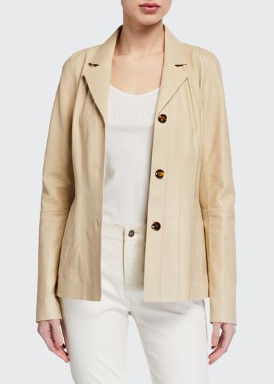 Warrick Plonge Lambskin Jacket