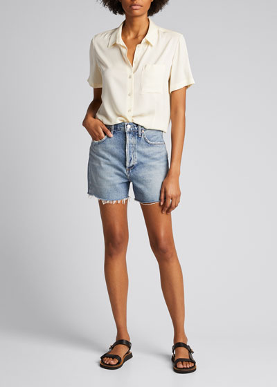 Dee High-Rise Denim Shorts