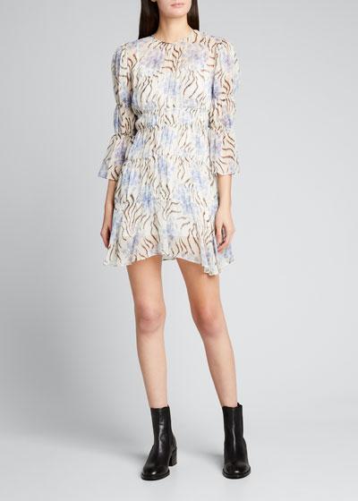 June Printed Silk Dress