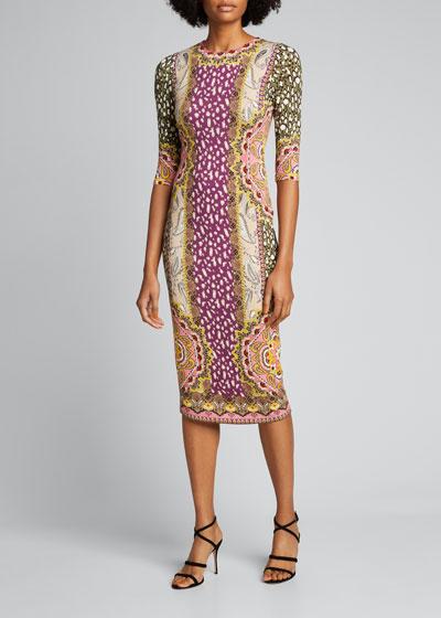 Delora Fitted Midi Dress