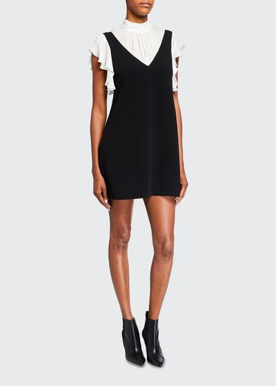 Rei Short-Sleeve Faux Overall Dress