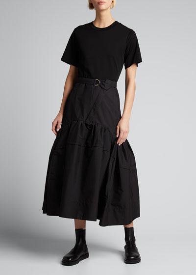 Belted T-Shirt Midi Dress