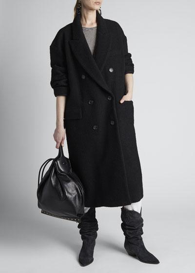 Ojima Double-Breasted Wool-Blend Coat