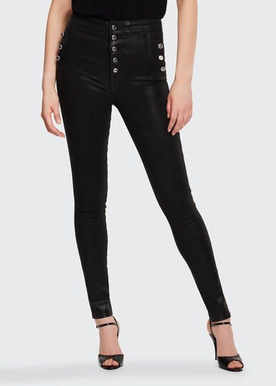Natasha Sky High Skinny Coated Jeans