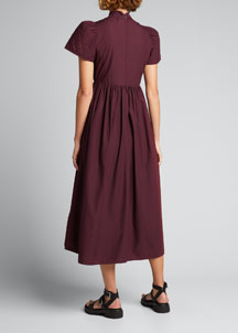 Tracy Reese Combo Shift Dress -  Tracy Reese -  Bergdorf Goodman :  wool scalloped work daywear