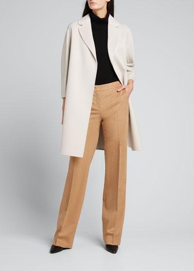 Arona Virgin Wool Belted Coat