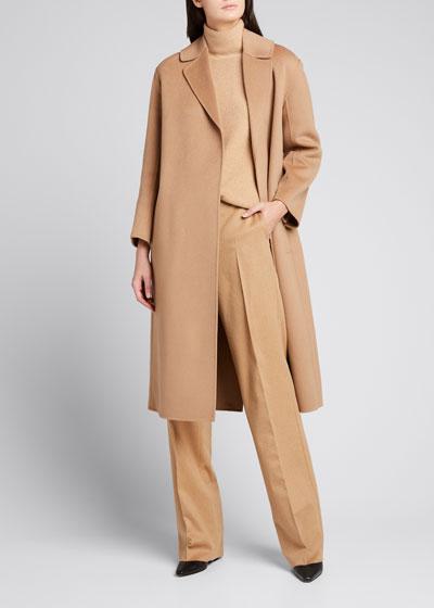 Lugano Virgin Wool Belted Coat, Beige