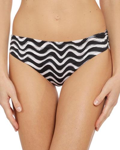 Ruched Onda Print Bikini Bottoms