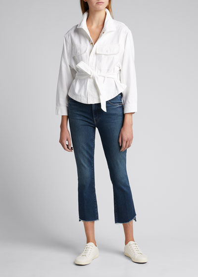 The Insider Cropped Step Denim Jeans