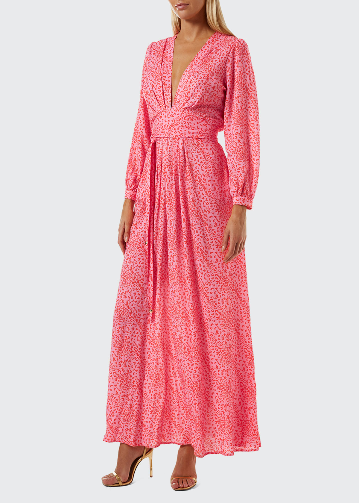 Melissa Odabash CARDINAL ANIMAL-PRINT MAXI DRESS
