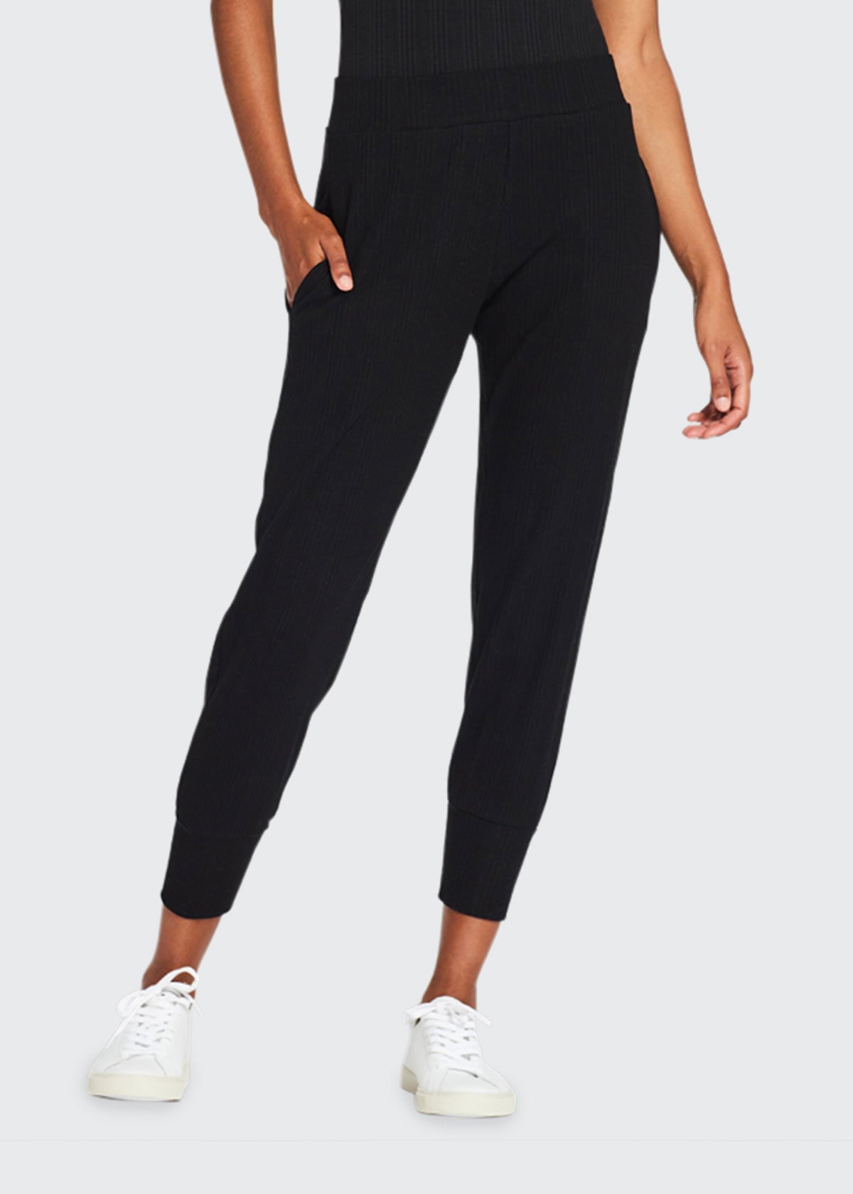Vitamin A WEST RIBBED SKINNY-FIT CROPPED JOGGER PANTS