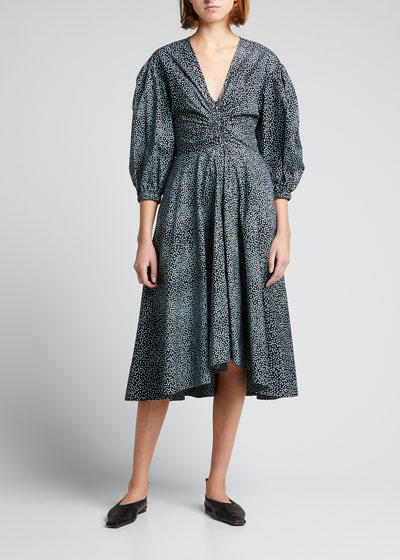 Dorothy Dress in Solid Raven Black COTTON