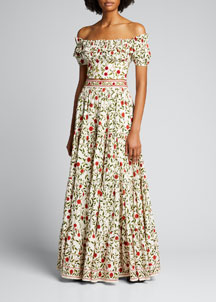 Alice + Olivia Strapless Rosette Dress -  Women's -  Bergdorf Goodman