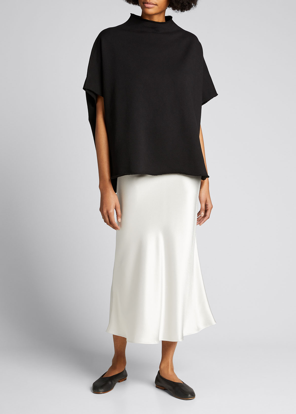 Frank & Eileen Tee Lab FUNNEL-NECK CAPELET TOP