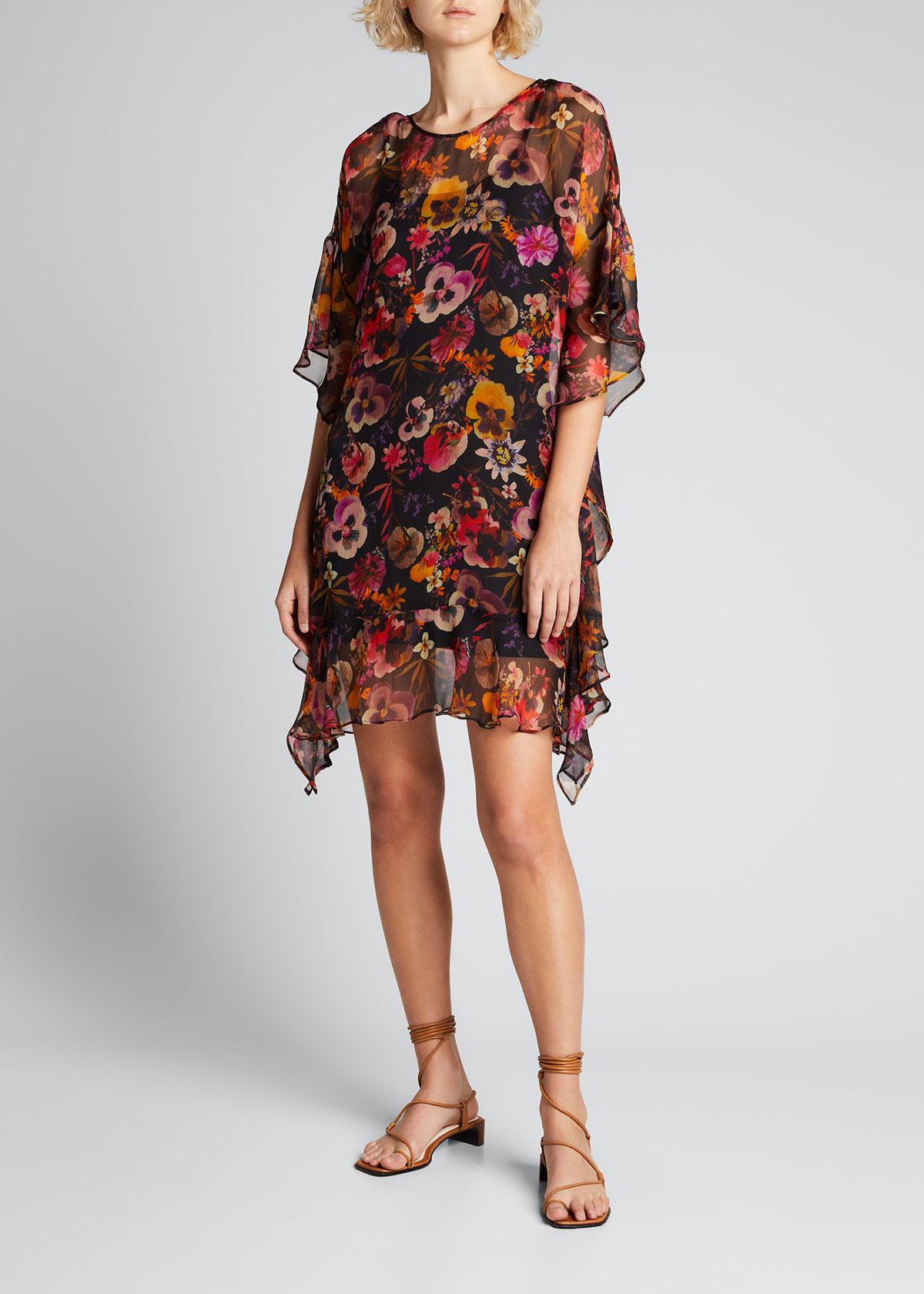 Fuzzi FLORAL PRINT SHIFT DRESS
