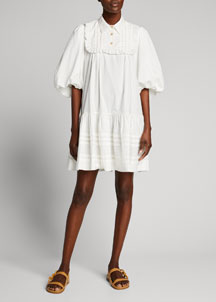 Shoshanna Belted Tunic Dress -  Apparel -  Bergdorf Goodman :  chic retro shoshanna glamit