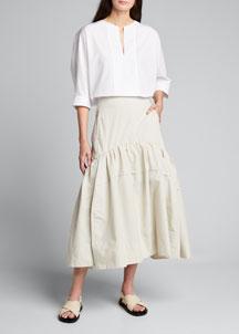 Milly Rosette Combo Dress- Dresses- Bergdorf Goodman
