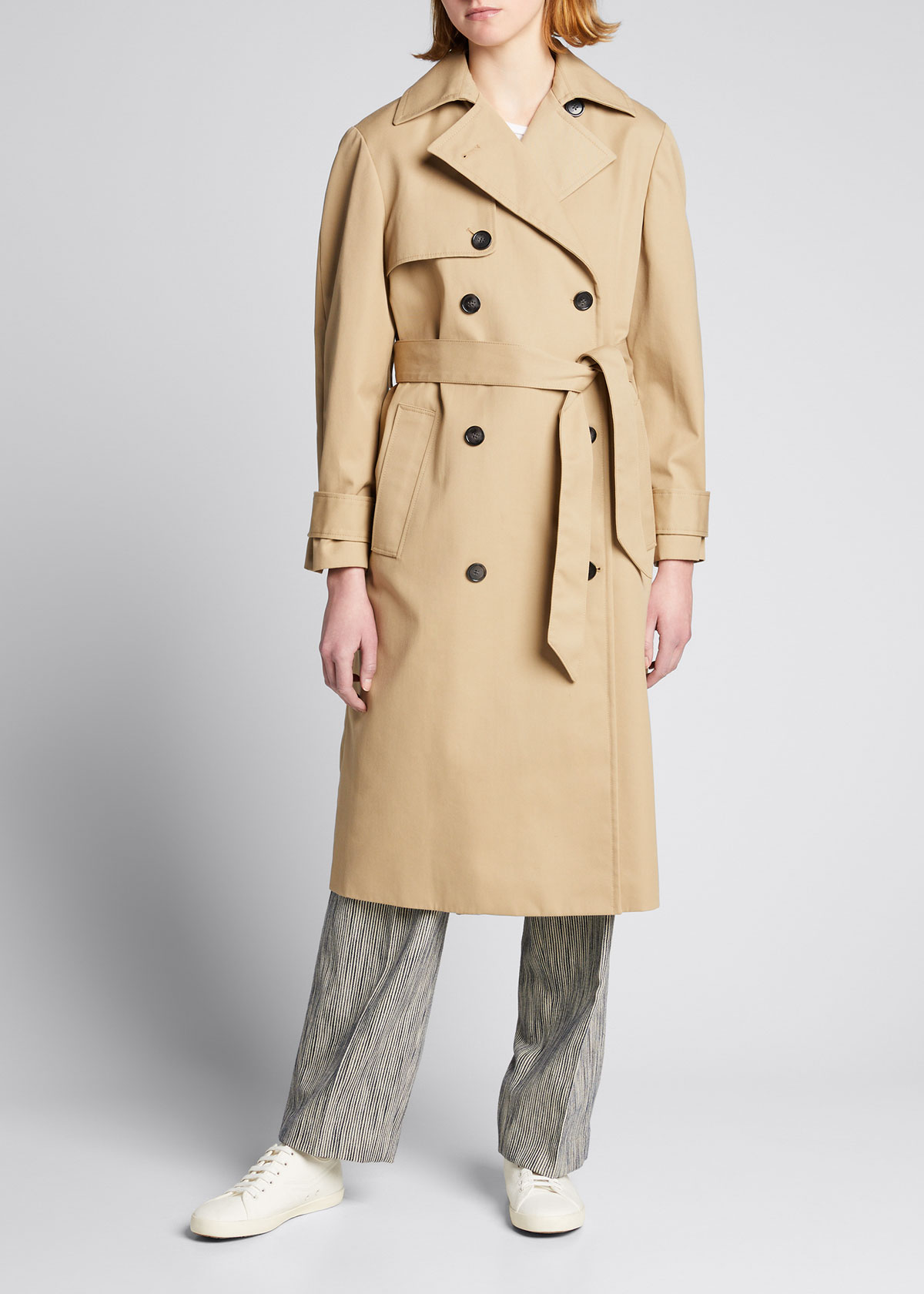 Officine Generale Leathers AMY WATER-RESISTANT TRENCH COAT