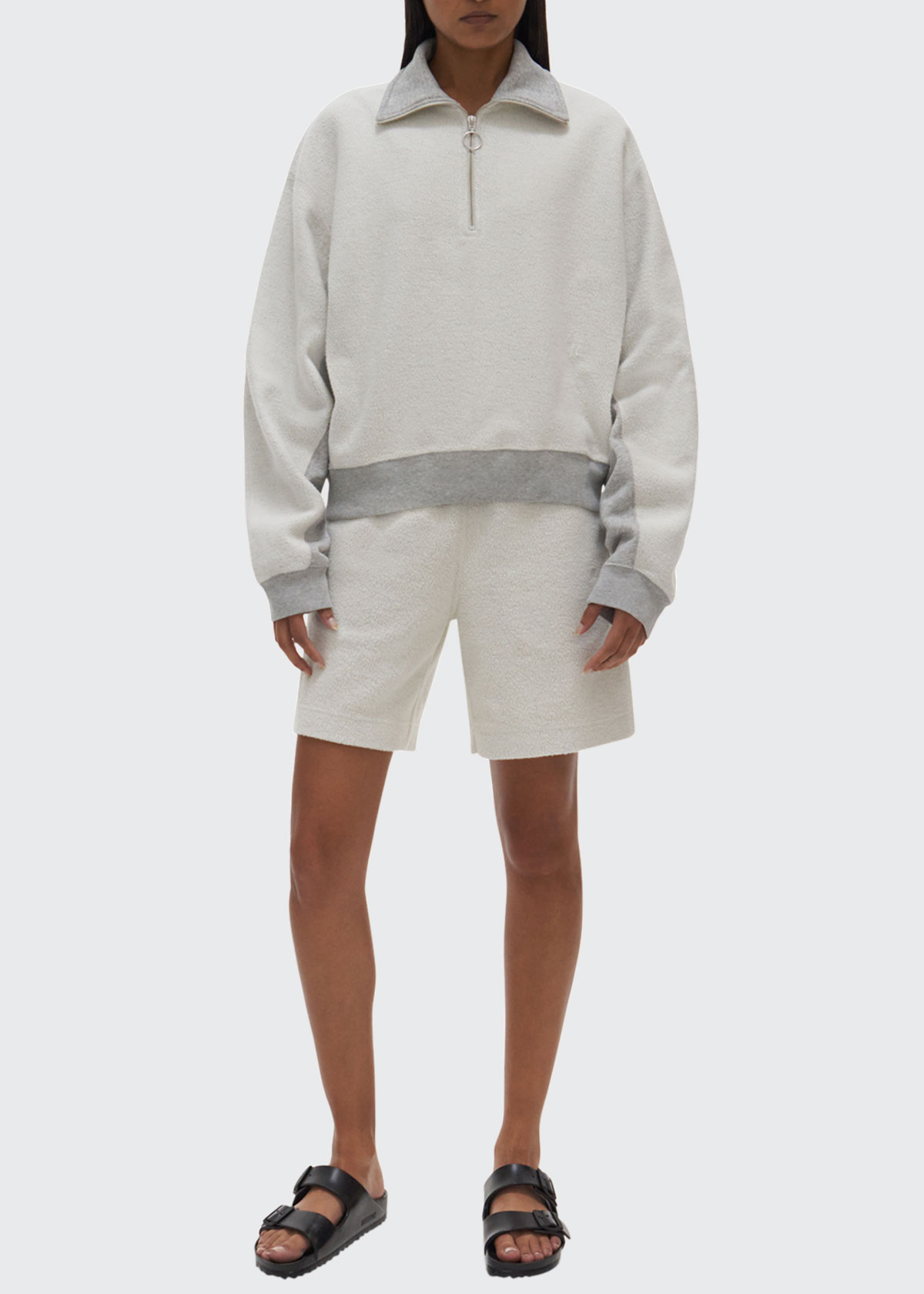 Helmut Lang INSIDE OUT TERRY SHORTS WITH TRIM