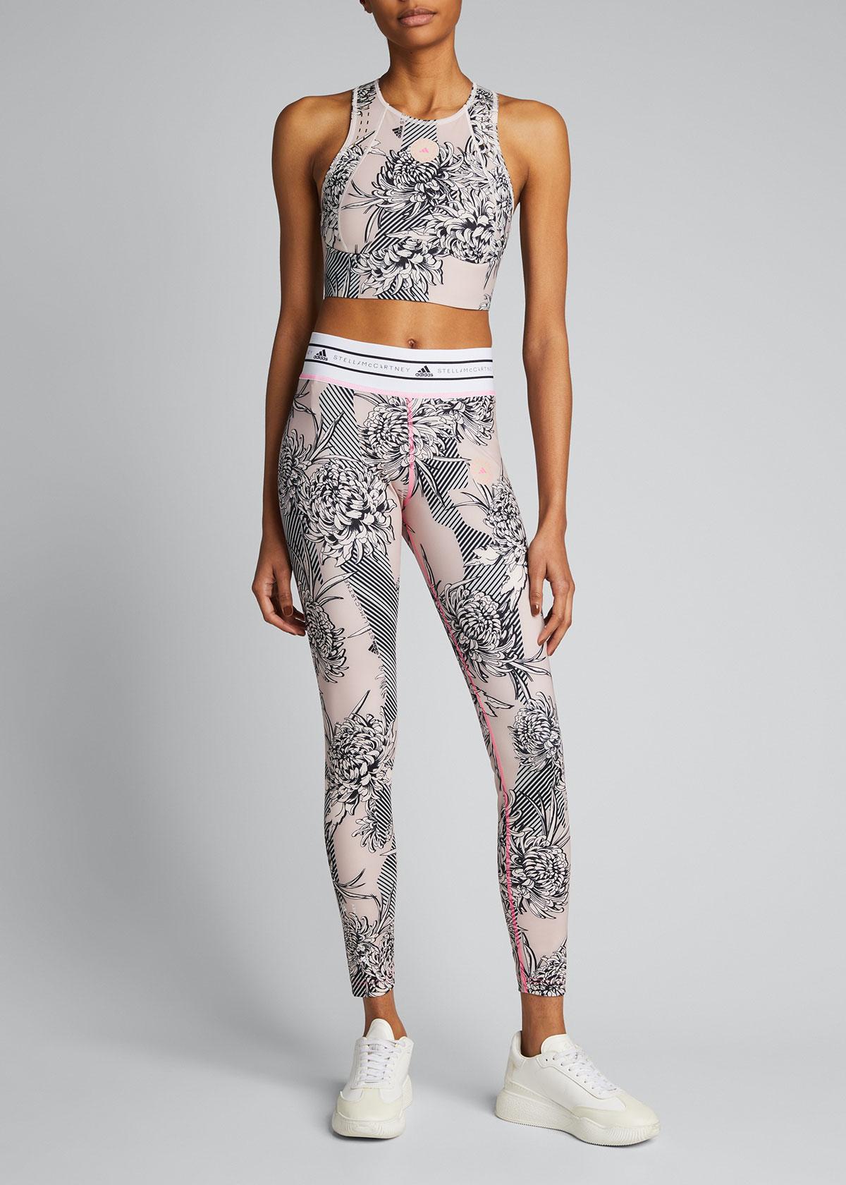 Adidas By Stella Mccartney Leggings FUTURE PLAYGROUND BANDED-WAIST PRINTED LEGGINGS