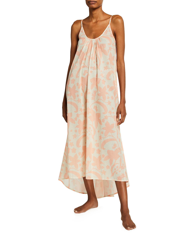 Pour Les Femmes HAWAIIAN FLORAL-PRINT HIGH-LOW LOUNGE DRESS