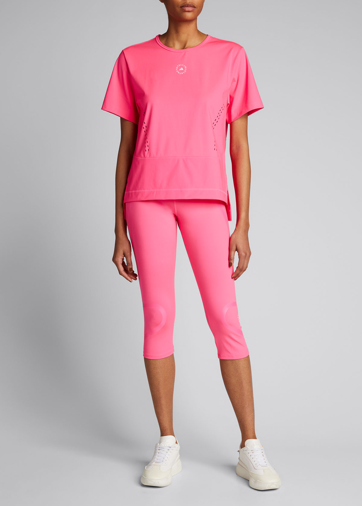 Adidas By Stella Mccartney HIGH-RISE CROPPED LEGGINGS WITH POCKET