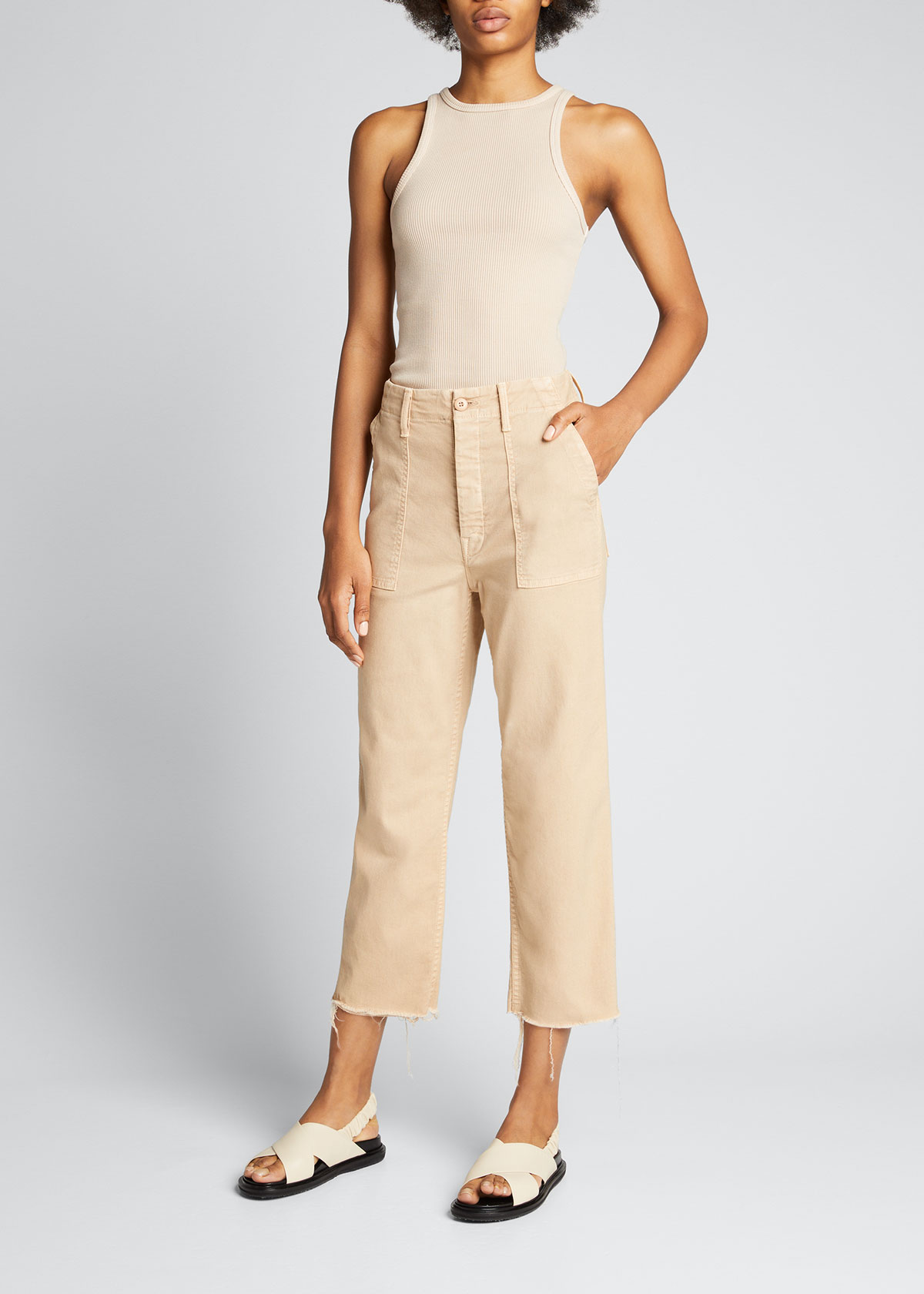 Mother THE PATCH POCKET PRIVATE ANKLE CARGO PANTS