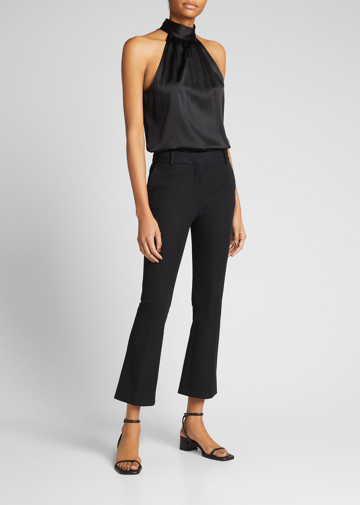 Frame Clothing LE CROP MINI BOOT-CUT TROUSERS