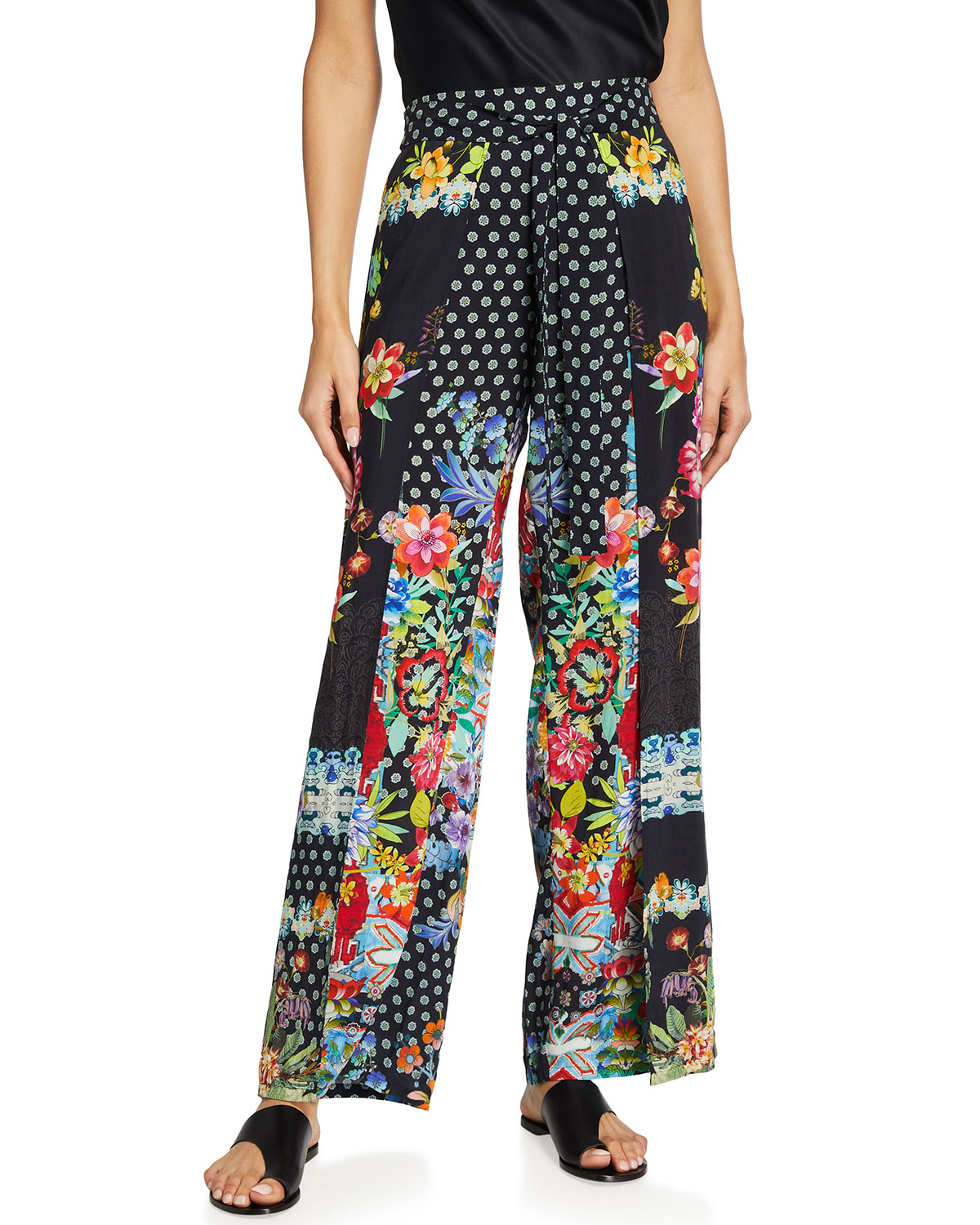 Johnny Was DREAMER PRINTED WRAP PANTS